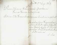 Korespondencja różnych osób z 1.05.1809 r.
