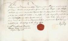 Korespondencja różnych osób z 10.06.1780 r.