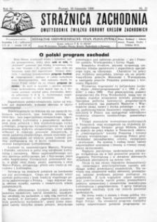 Strażnica Zachodnia, 1930, R. 4, nr 21