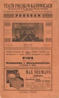Teatr Polski w Katowicach. Program. Wieczór Baletowy. Dyrekcja T.P.T.P. Dyrektor Marian Sobański