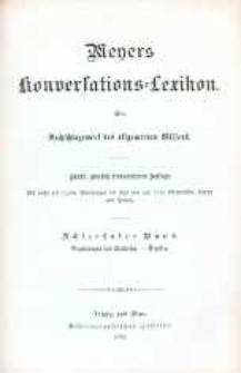 Meyers Konversations-Lexikon. Ein Nachschlagewerk des allgemeinen Wissens.