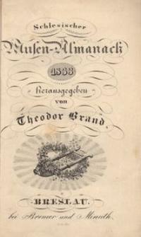 Schlesischer Musen-Almanach für das Jahr 1833, 6. Jg.