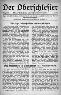 Der Oberschlesier, 1923, [Jg. 5], Heft 3