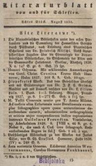 Literaturblatt von und für Schlesien, 1838, 8. Stück.
