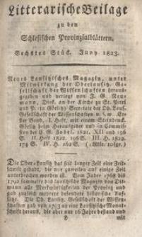 Litterarische Beilage zu den Schlesischen Provinzialblattern, 1823, 6. Stück.