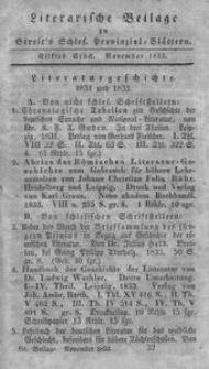 Literarische Beilage zu Streit's Schles. Provinzial-Blättern, 1833, 11. Stück