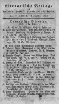 Literarische Beilage zu Streit's Schles. Provinzial-Blättern, 1833, 12. Stück