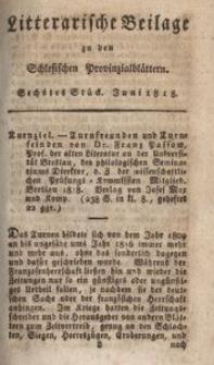 Litterarische Beilage zu den Schlesischen Provinzialblättern, 1818, 6. Stück