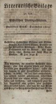 Litterarische Beilage zu den Schlesischen Provinzialblättern, 1819, 12. Stück