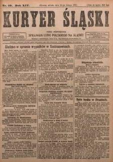 Kuryer Śląski, 1922, R. 14 [właśc. 16], nr40