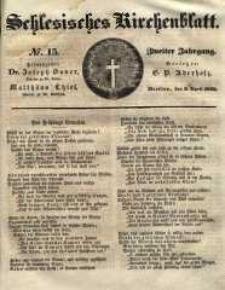 Schlesisches Kirchenblatt, 1836, Jg. 2, nr 15
