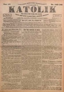 Katolik, 1917, R. 50, nr140/141