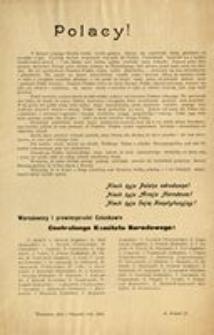 Polacy! Warszawa, dnia 5 listopada roku 1916