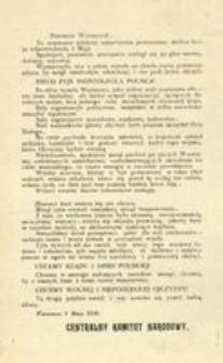 Przemów Warszawo! Warszawa 8 Maja 1916. Centralny Komitet Narodowy
