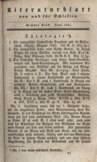 Literaturblatt von und für Schlesien, 1841, 6. Stück