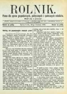 Rolnik, 1893, numer na próbę