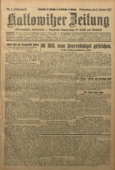 Kattowitzer Zeitung, 1927, Jg. 59, nr4