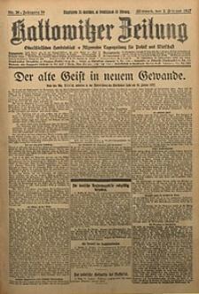 Kattowitzer Zeitung, 1927, Jg. 59, nr26