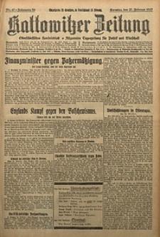 Kattowitzer Zeitung, 1927, Jg. 59, nr47