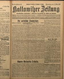 Kattowitzer Zeitung, 1927, Jg. 59, nr62