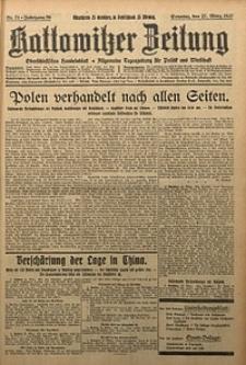 Kattowitzer Zeitung, 1927, Jg. 59, nr71