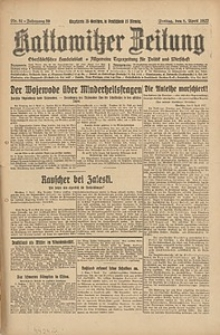 Kattowitzer Zeitung, 1927, Jg. 59, nr81