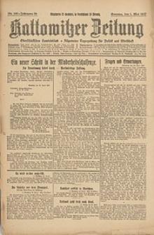 Kattowitzer Zeitung, 1927, Jg. 59, nr100
