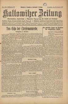Kattowitzer Zeitung, 1927, Jg. 59, nr144