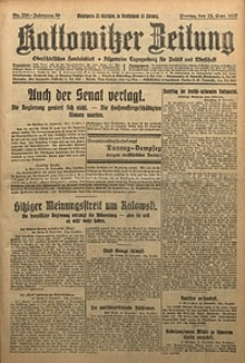 Kattowitzer Zeitung, 1927, Jg. 59, nr218