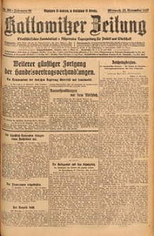 Kattowitzer Zeitung, 1927, Jg. 59, nr269
