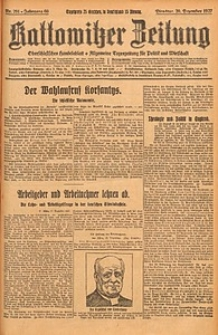 Kattowitzer Zeitung, 1927, Jg. 59, nr291