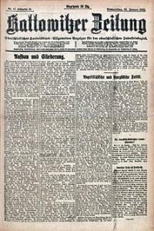 Kattowitzer Zeitung, 1922, Jg. 54, nr17
