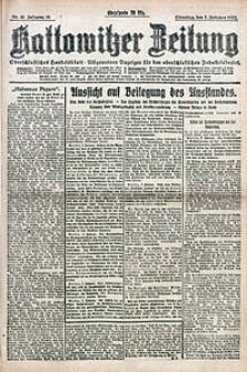 Kattowitzer Zeitung, 1922, Jg. 54, nr33