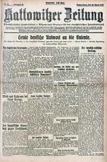Kattowitzer Zeitung, 1922, Jg. 54, nr93
