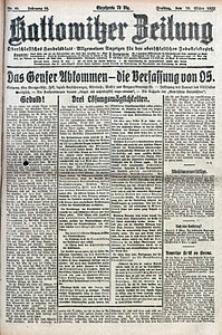 Kattowitzer Zeitung, 1922, Jg. 54, nr60