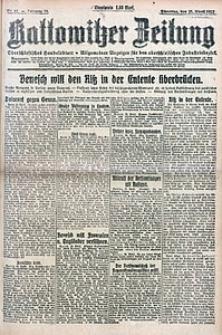 Kattowitzer Zeitung, 1922, Jg. 54, nr97