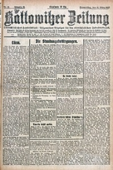 Kattowitzer Zeitung, 1922, Jg. 54, nr65