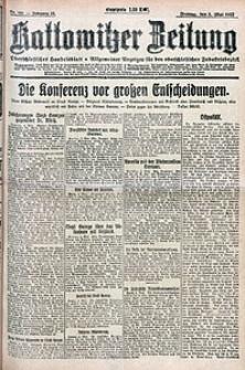 Kattowitzer Zeitung, 1922, Jg. 54, nr105