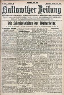 Kattowitzer Zeitung, 1922, Jg. 54, nr130