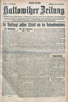 Kattowitzer Zeitung, 1922, Jg. 54, nr157