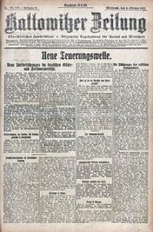 Kattowitzer Zeitung, 1922, Jg. 54, nr230