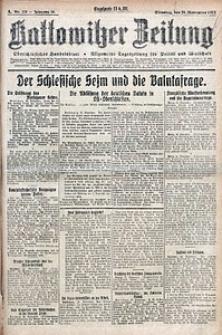 Kattowitzer Zeitung, 1922, Jg. 54, nr276
