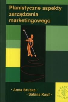 Planistyczne aspekty zarządzania marketingowego
