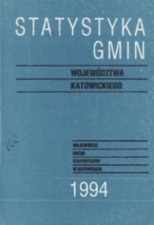 Statystyka Gmin Województwa Katowickiego, [R. 2], 1994