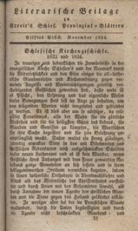 Literarische Beilage zu Streit's Schles. Provinzial-Blättern, 1834, 11. Stück