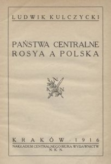 Państwa centralne, Rosya a Polska