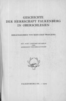 Geschichte der Herrschaft Falkenberg in Oberschlesien