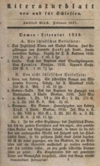 Literaturblatt von und für Schlesien, 1837, 2. Stück