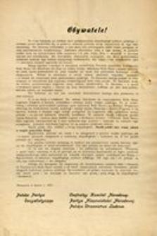 Obywatele! Warszawa w marcu r. 1917