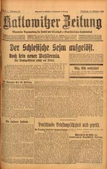 Kattowitzer Zeitung, 1929, Jg. 61, nr37